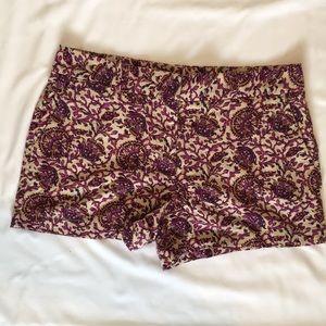 LOFT Printed Linen Shorts size 8